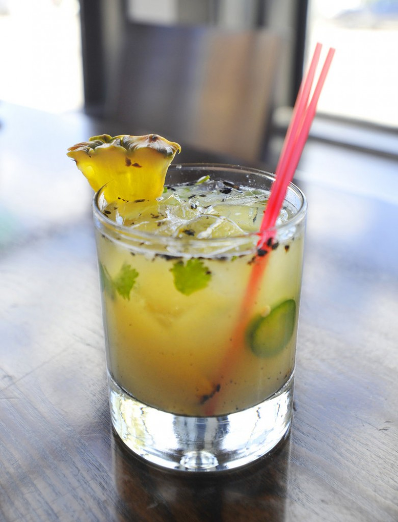 Tequila drinks from Zapoteca include the Mescalita de Pina, made with mezcal, grilled pineapple, cilantro, agave, jalapeno and lime juice.