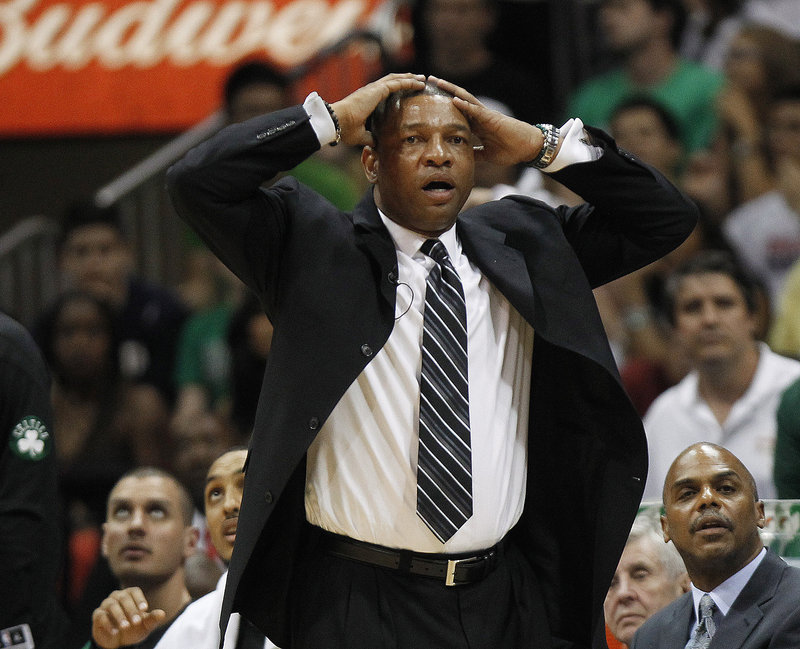 Celtics Coach Doc Rivers didn't like everything he saw Tuesday, but his team did enough to tie the series.