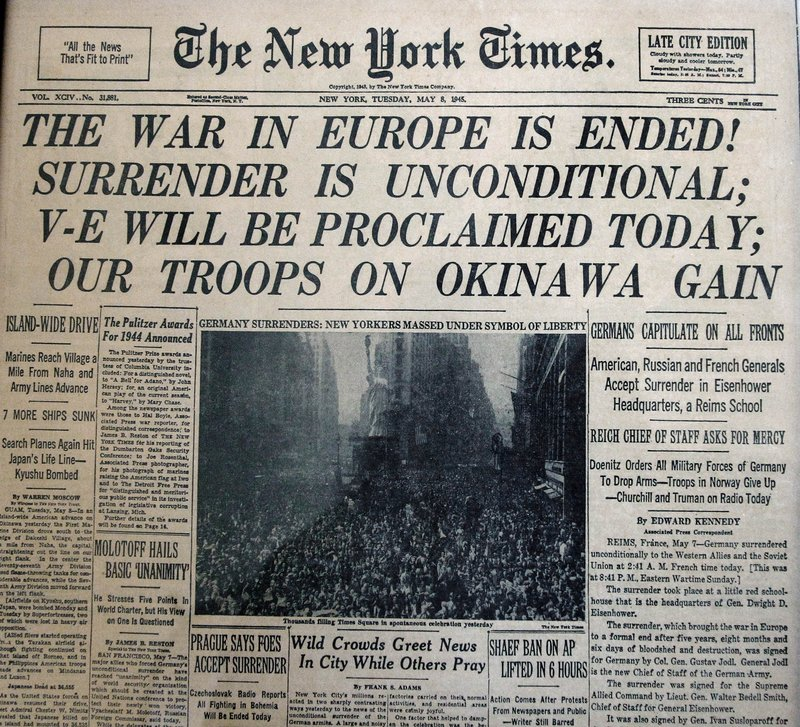 The May 8, 1945, New York Times