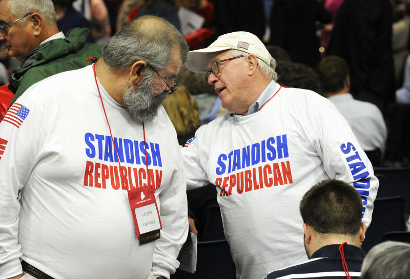 The town of Standish was represented Saturday by Lester Ordway, Will Hamilton and others wearing custom-made T-shirts.