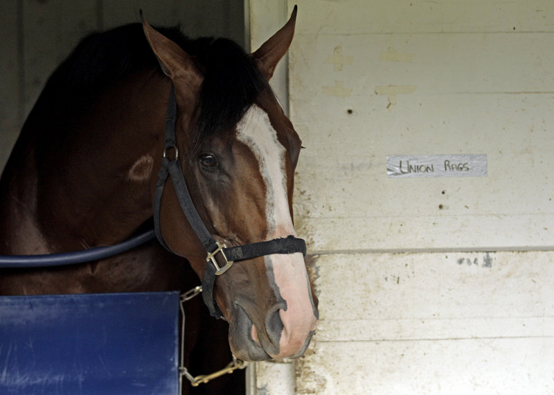 """Union Rags, owned by a part-time Maine resident, has had a history of """"rough trips."""" His slow start in Saturday's Kentucky Derby eliminated him from contention early."""