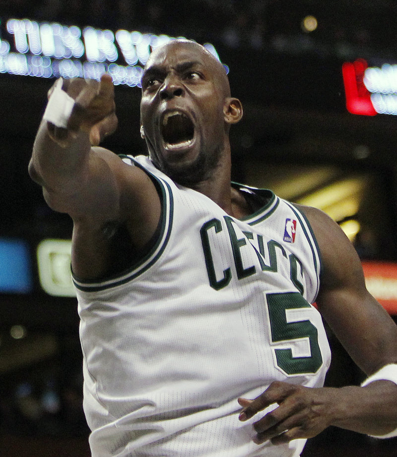 Kevin Garnett helped the Celtics get off to a fast start, and they didn't let up until the outcome was no longer in doubt.