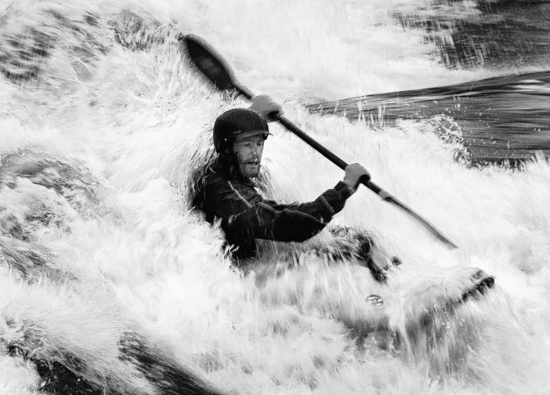 Stu Johnson of Lewiston kayaks the Saco River in 2008. A reader endorses a proposal to create a passage for kayakers at the Saccarappa Falls on the Presumpscot River in Westbrook.