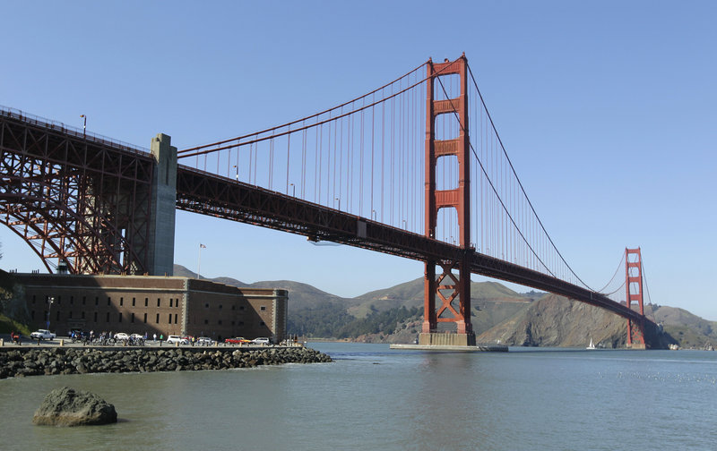 "The bridge boasts several notable pop-culture references, including appearances in the movie ""Vertigo"" and on the cover of Rolling Stone magazine. It's accessible to cars, bikes, runners and walkers."