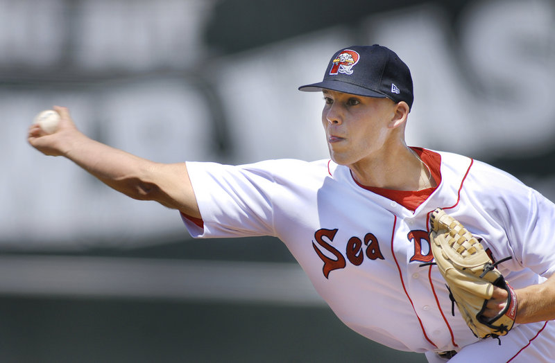 Justin Masterson was a starting pitcher for the Portland Sea Dogs in 2007-08, then became a reliever for the Red Sox, but he was traded to the Cleveland Indians in 2009 for Victor Martinez. Now, Masterson is a mainstay in Cleveland's rotation.