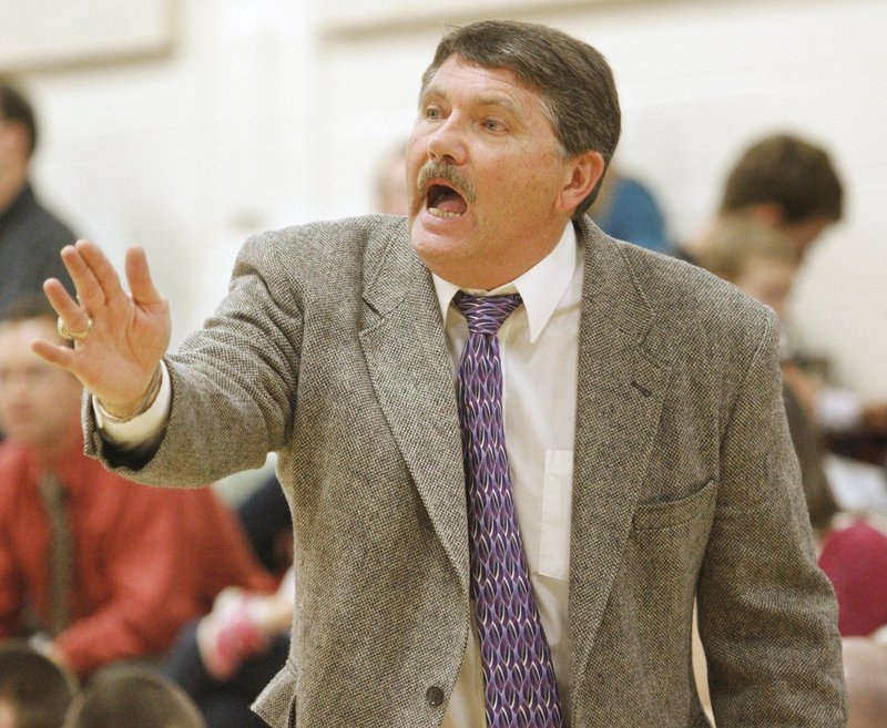Tony DiBiase, the new Scarborough boys' basketball coach, has two Class A state titles and one Class B state title in his 33 seasons.