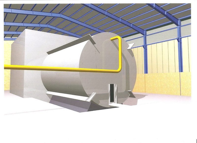 This rendering purports to depict a chamber of the type needed for nuclear arms-related tests that U.N. inspectors suspect Tehran has conducted at its Parchin military site.