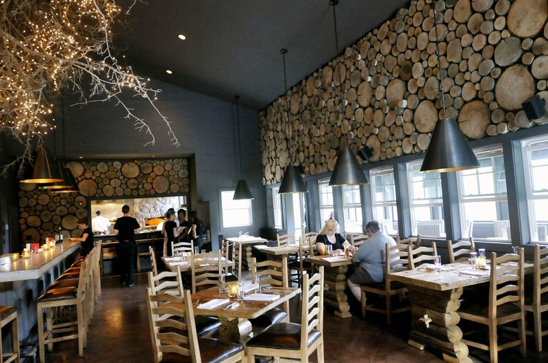 Earth officially opened for its second season last weekend. The restaurant's dining room is distinctive.