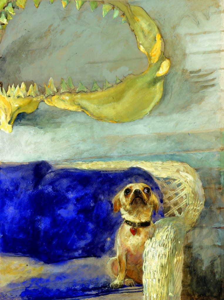 """A Dog and the Great White Shark"" by Jamie Wyeth."