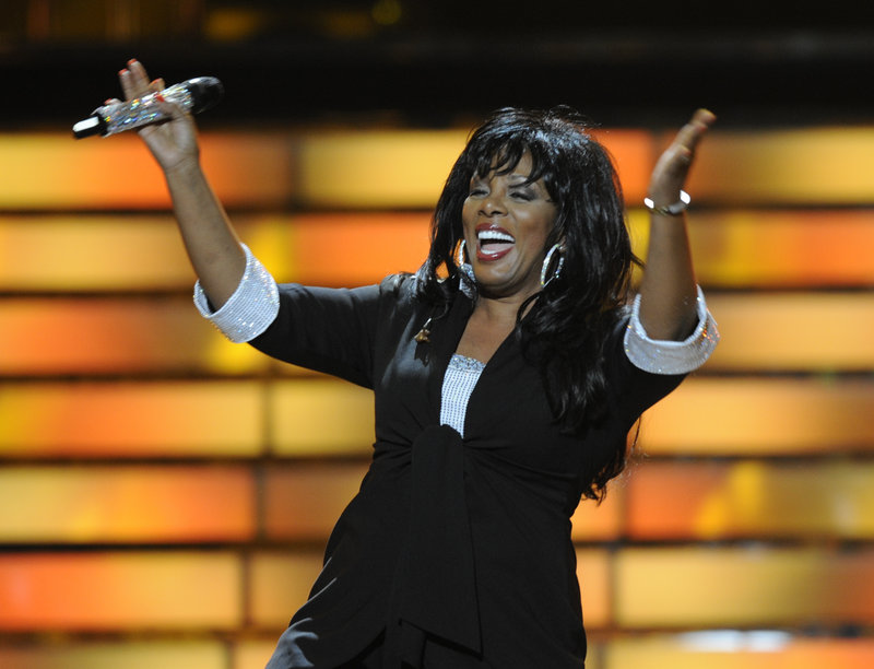 """Donna Summer performs during the finale of """"American Idol"""" at the Nokia Theatre in Los Angeles on May 21, 2008. Summer died of cancer Thursday at age 63."""