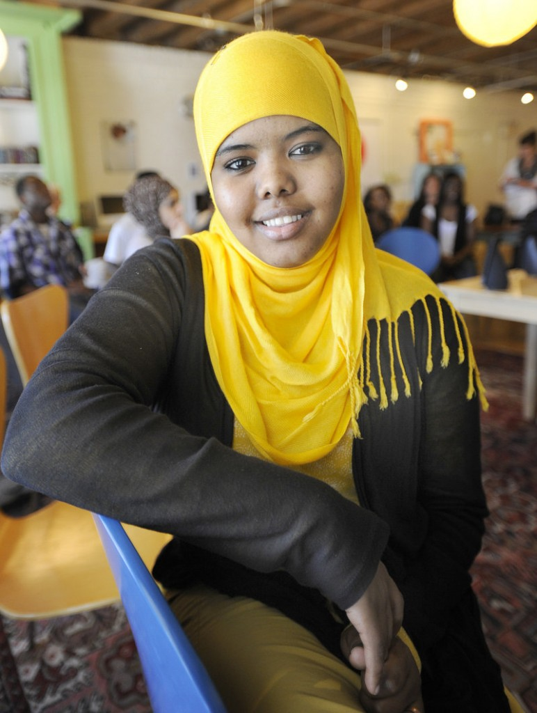 """Maryan Abbi is one of 15 teenagers whose videos will premiere at the Space Gallery in Portland on Thursday. """"It was really tough,"""" the 16-year-old said. """"I thought I could never tell this story to anyone on film. But I'm proud I did this."""""""
