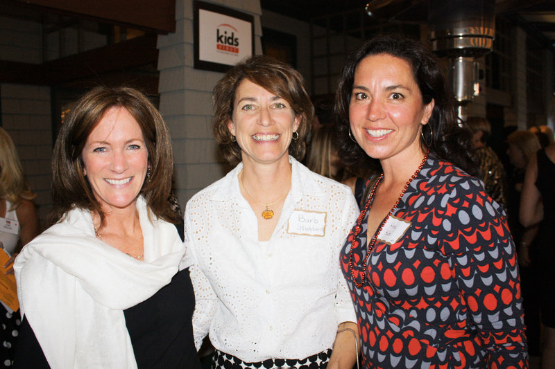 Board member Sarah Maloney, Barb Stoddard and Amy Kuhn.