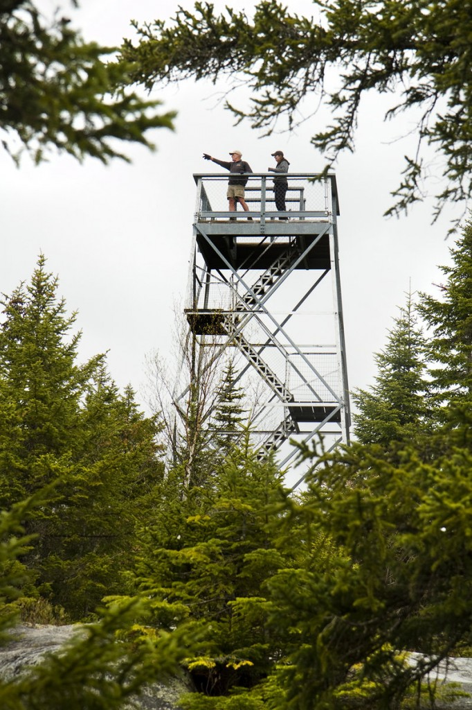 The summit of Bald Mountain has an observation tower that gives hikers a chance for an even higher view.