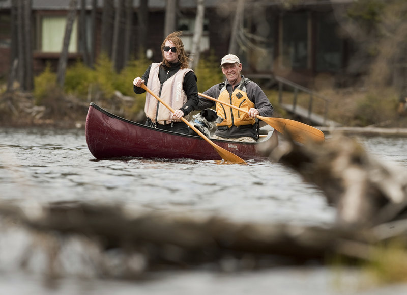 The Cupsuptic River is a little less traveled than the Kennebago River, but both waterways offer easy-going rides through the Rangeley area.