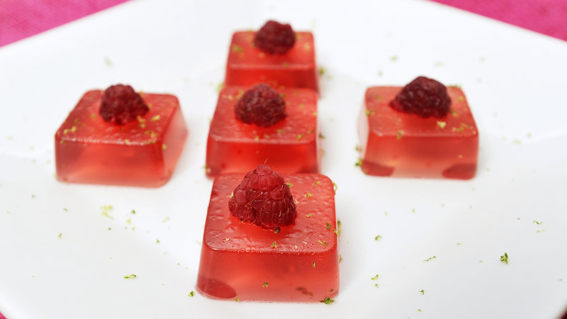 The jelly shot creations of Amy Sirois and Tracy Palm include the Raspberry Cosmo.