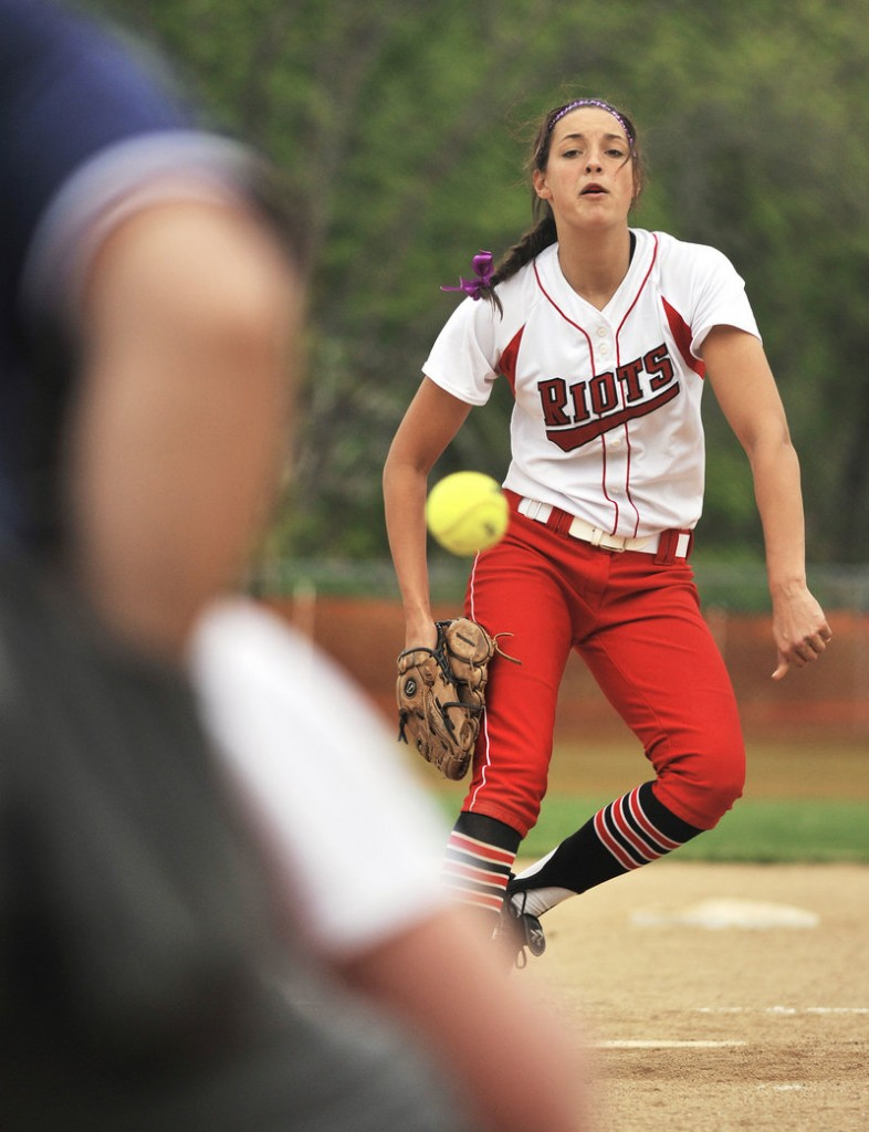 Erin Bogdanovich of South Portland improved to 9-1, allowing five hits and striking out six in an 18-1 win Monday at Biddeford.