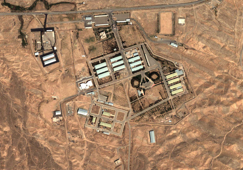 A satellite photograph taken on Aug. 13, 2004, shows the military complex at Parchin, Iran, about 20 miles southeast of Tehran. The International Atomic Energy Agency believes Iran conducted tests at Parchin that were needed to set off a nuclear charge.
