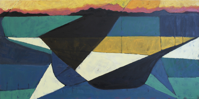 """""""Sea Geometry 155"""" by Richard Keen, from """"Sea Algorithms"""" at Elizabeth Moss Gallery in Falmouth."""