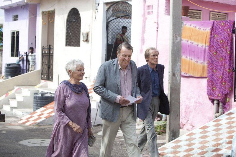 "Judi Dench, Tom Wilkinson and Bill Nighy travel to India in ""The Best Exotic Marigold Hotel."""