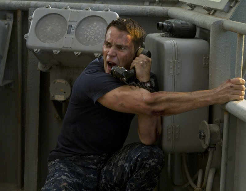 "Taylor Kitsch is an officer with discipline issues in ""Battleship."""