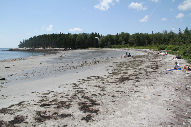 Birch Point State Park is a little harder to find – and therefore a lot less crowded than many beaches in Maine in the summer months.