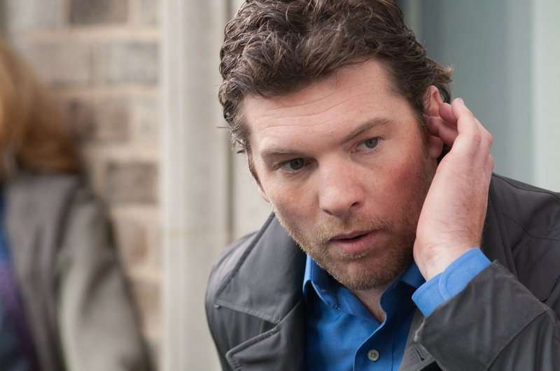 "Sam Worthington in ""Man on a Ledge."""
