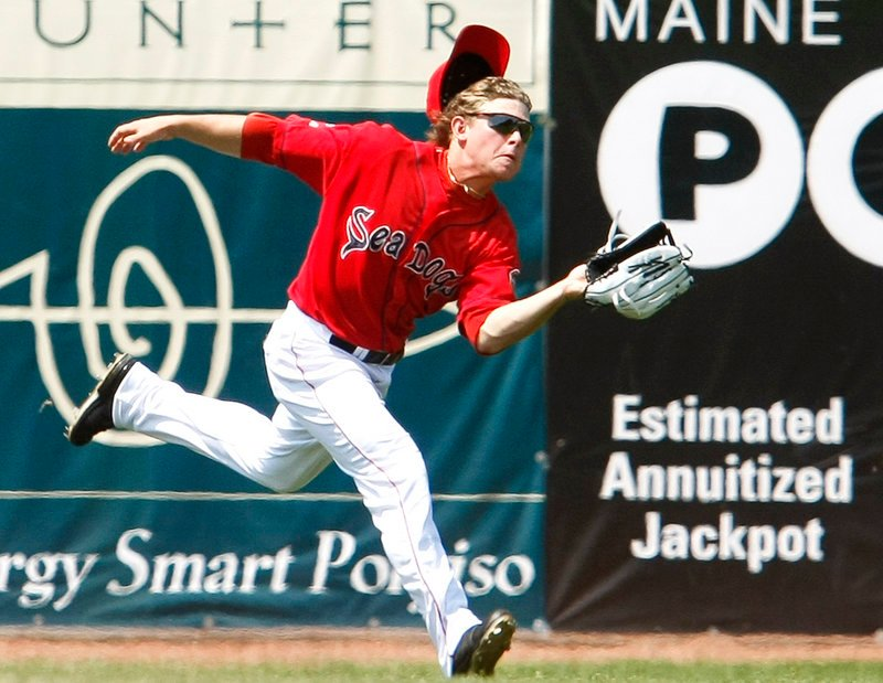 Zach Gentile is normally an infielder for the Portland Sea Dogs but he made his mark in left field Sunday as he was forced into service by a bevy of injuries. Portland's makeshift lineup lost to New Britain, 3-0.