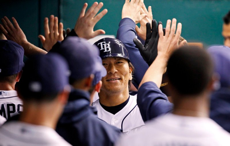 Hideki Matsui returned to the majors Tuesday night and promptly hit a home run for the Tampa Bay Rays, who were beaten at home by the Chicago White Sox, 7-2.