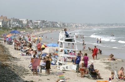 This 2008 file photo shows Wells Beach. Data shows Maine beaches are at their cleanest point since 2008.