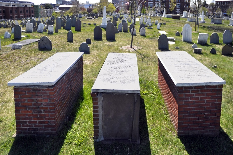 Lt. Kervin Waters of the USS Enterprise, Capt. William Burrowes, commander of the Enterprise, and Capt. Samuel Blyth, commander of the HMS Boxer, are buried in Portland's Eastern Cemetery.