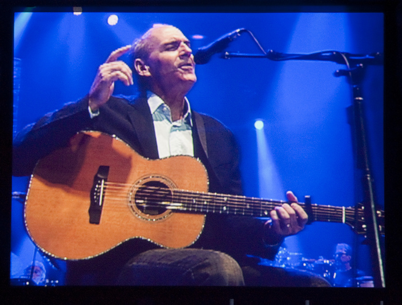 Singer-songwriter James Taylor performs Sunday night at the Cumberland County Civic Center in Portland.