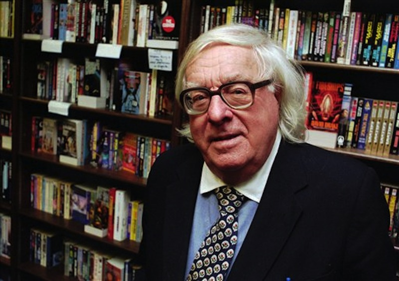 "This Jan. 29, 1997 file photo shows author Ray Bradbury at a signing for his book ""Quicker Than The Eye"" in Cupertino, Calif. Bradbury, who wrote everything from science-fiction and mystery to humor, died Tuesday, June 5, 2012 in Southern California. He was 91. (AP Photo/Steve Castillo, file)"