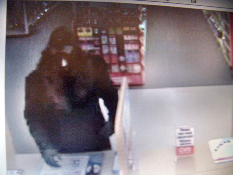 A screenshot of the suspect in the May 8. 2012, robbery of the Stone Street CVS pharmacy in Augusta.