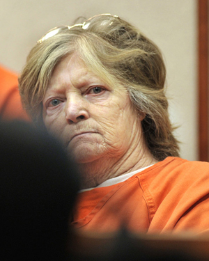 Carol Field, of Standish, appears in Cumberland County Court to face charges of arson in this Jan. 11, 2012, photo.