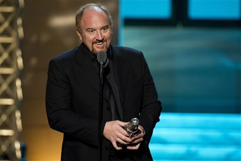 "In this April 28, 2012 file photo, comedian Louis C.K. from the FX comedy ""Louie"" appears onstage at The 2012 Comedy Awards in New York. After selling a comedy special directly to fans and upending the comedy business, Louis C.K. is taking the same approach with tickets to his next tour. The comedian announced Monday, June 25, that he'll charge a flat, no-fee rate of $45 to all of the shows on a 39-city tour he kicks off in October. Tickets will bypass ticketing services and be available only through louisck.com. Louis C.K.'s show ìLouieî debuts its third season on FX on Thursday. (AP Photo/Charles Sykes, file)"