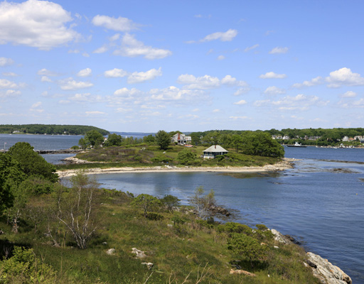 The 24-acre House Island, its historic fort, and three summer cottages have been listed for $4,850,000.