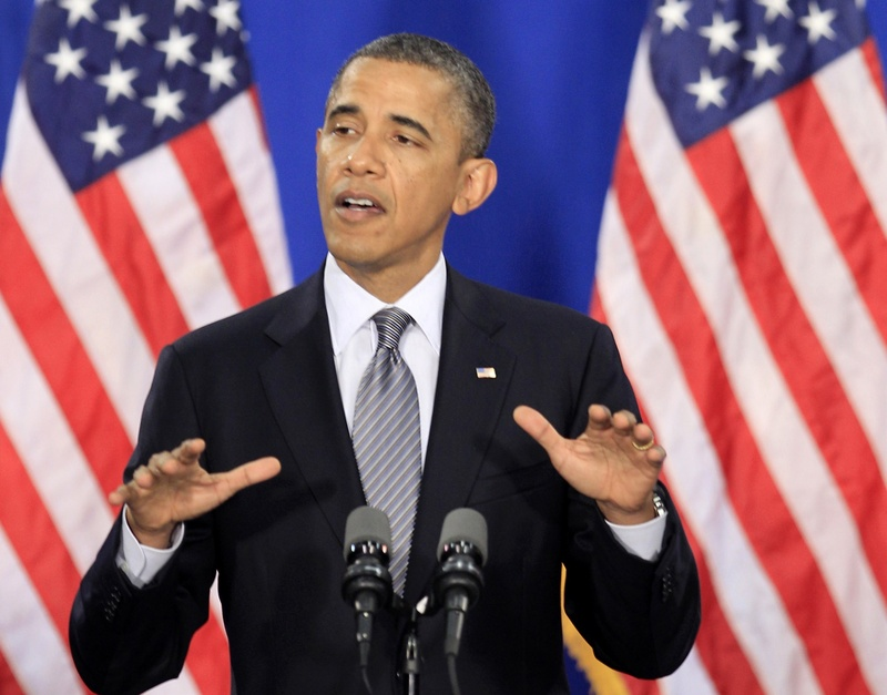 President Obama speaks at Cuyahoga Community College in Cleveland on Thursday.