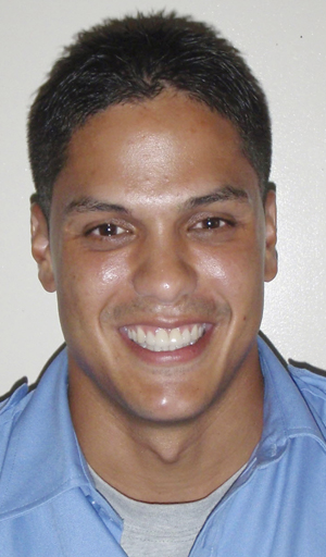 This photo provided by the Seminole County Fire Department shows firefighter Jerry Perdomo of Orange City, Fla., who was shot and killed in Maine. (AP Photo/Seminole County Fire Dept.)