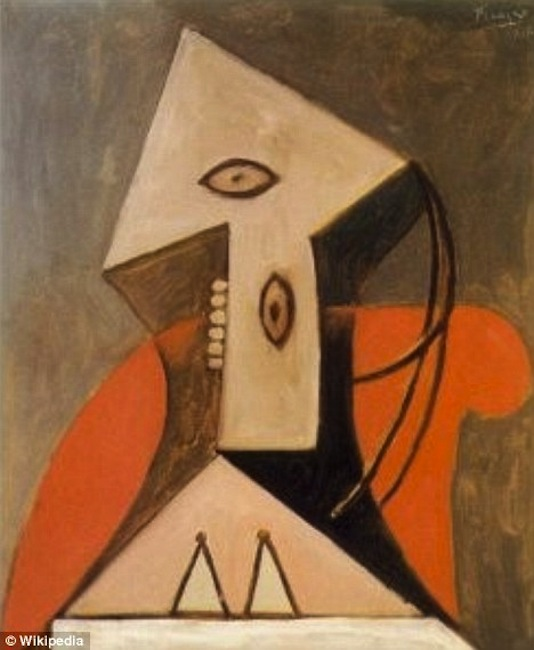 """Woman in a Red Armchair"" by Pablo Picasso."