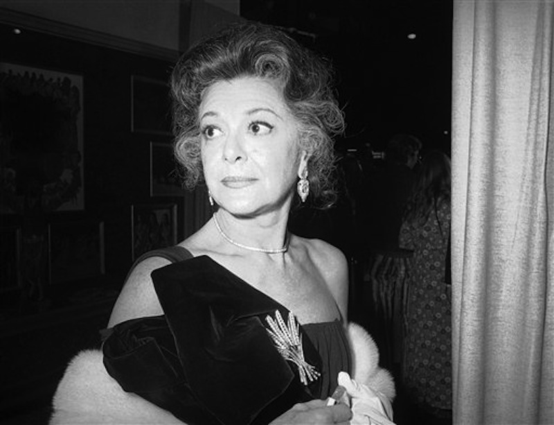 This Nov. 5, 1971 file photo shows actress Ann Rutherford in New York. Rutherford, who played Scarlett O'Hara's sister Carreen in the 1939 movie classic