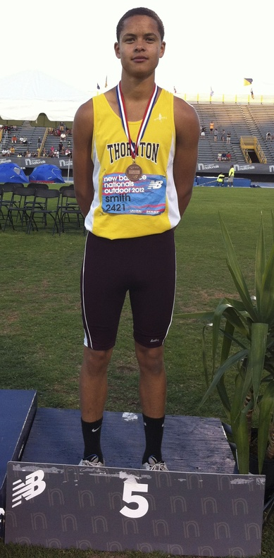 Andrew Smith of Thornton Academy was a medal winner at the New Balance Nationals track and field meet in Greensboro, N.C., finishing fifth in the freshmen 100-meter dash.