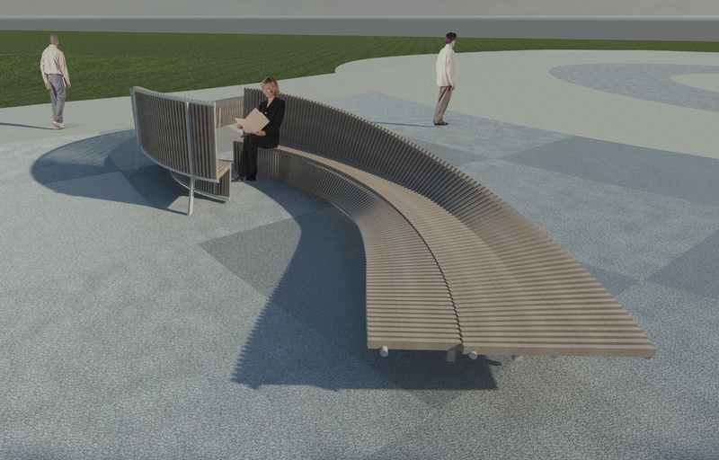 Late Monday, councilors approved this design by SkyeDesign Studios for seating sculptures along the Bayside Trail.