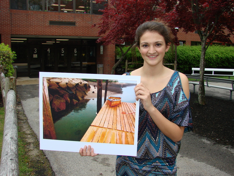 "Wells High School Senior Julianna Fischer was named first runner-up in the 2012 Congressional Art Competition for Maine's 1st District for her photograph (shown here) titled ""Boat on a Dock."""