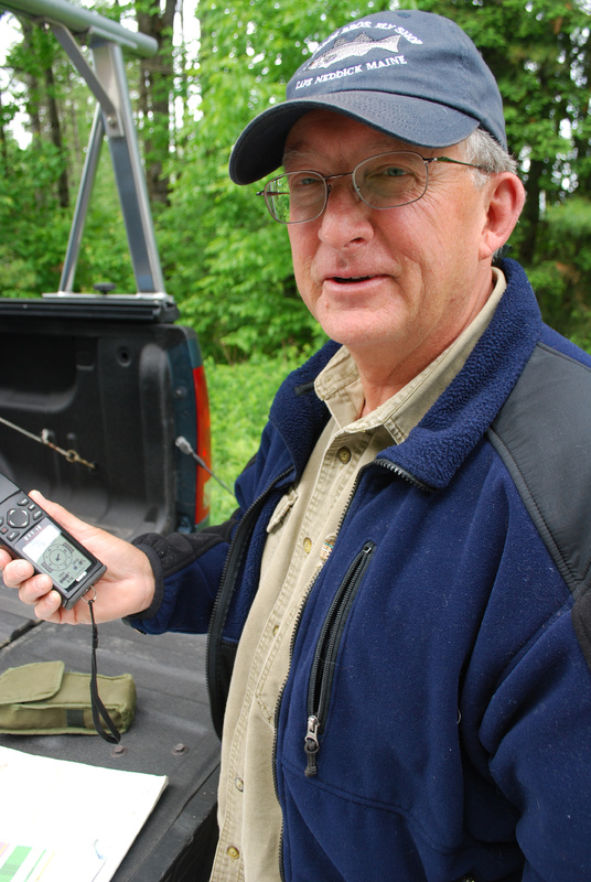 Part of the Maine Brook Trout Pond Survey requires hiking into remote ponds, something the volunteer fishermen participating in the survey enjoy doing. Last year, Jerry Derosier of Wells managed to survey 19 ponds for the state.