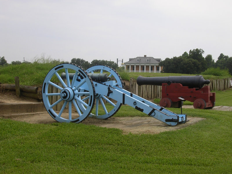 The ramparts of the Chalmette Battlefield, site of the 1815 Battle of New Orleans.