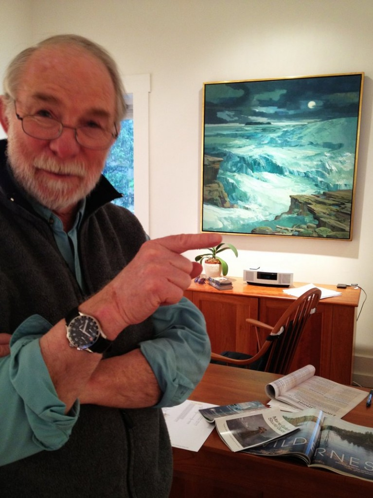Tom Crotty of Frost Gully Gallery in Thomaston is showing paintings by Laurence Sisson.
