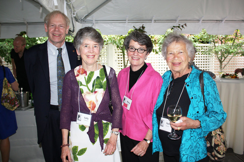 State Historian Earle G. Shettleworth Jr., board member Sally Oldham, Betsy Elliman and board member Nan Sawyer.