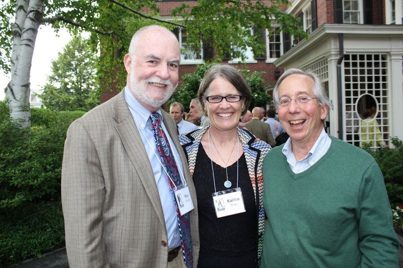 Mac McCabe, Kaitlin Briggs and Ken Spirer at Greater Portland Landmarks' Spring Historic House Gala.