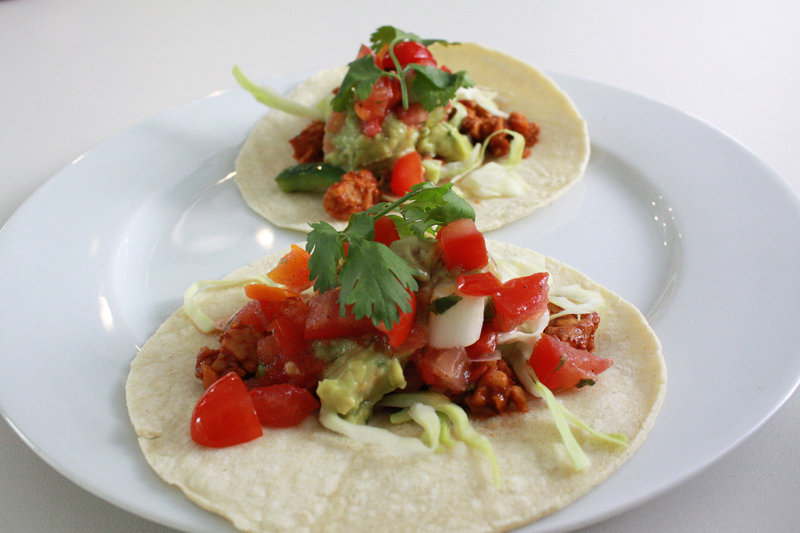 Vegan chef Terry Hope Romero's chorizo tempeh tacos.