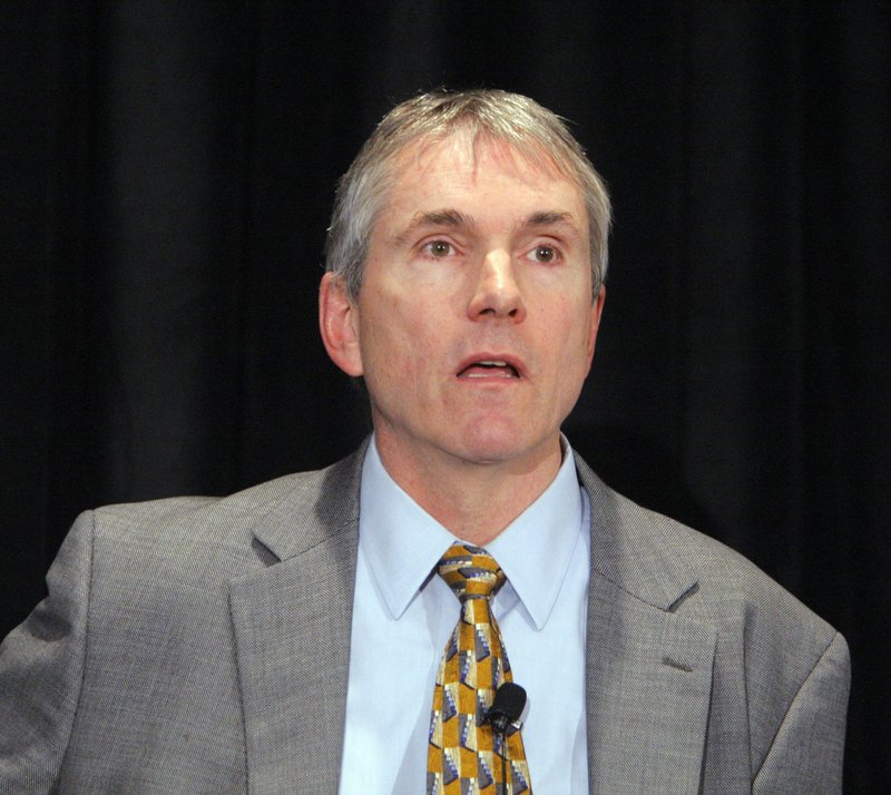 Rep. Jon Hinck, D-Portland, commented about General Electric's taxes at a forum for Democratic candidates for U.S. Senate last month.